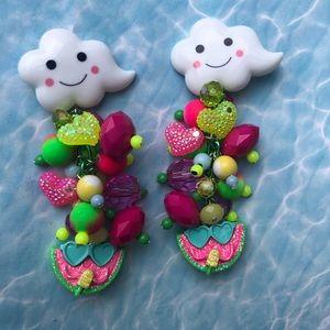 Watermelon cloud ☁️ sunglasses popsicle earrings
